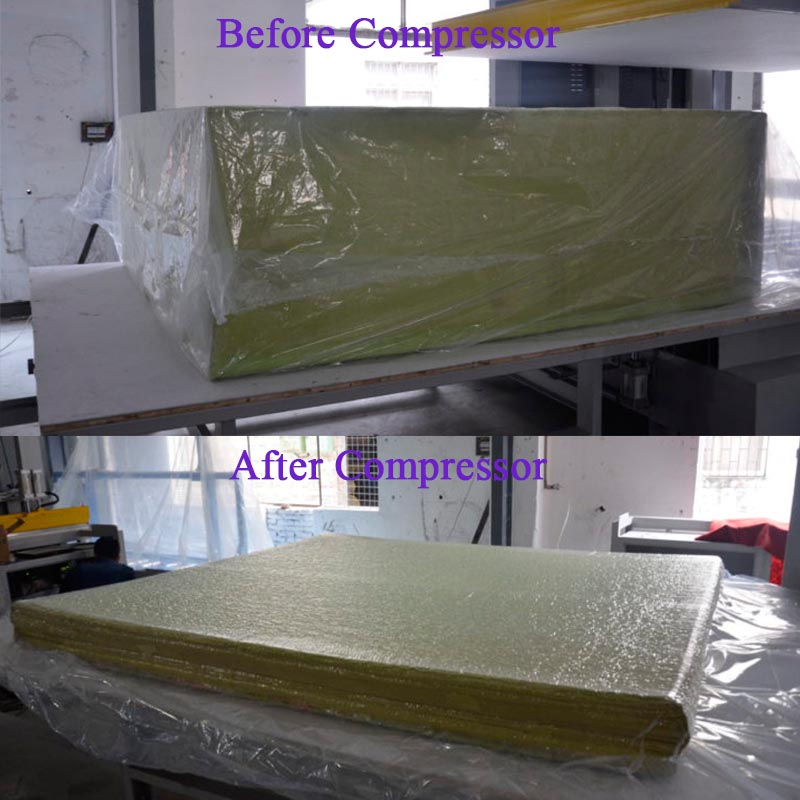 foam compression machine