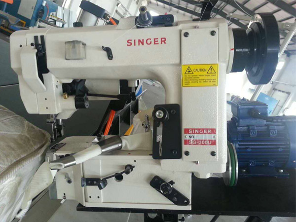 Singer head mattress tape edge machine