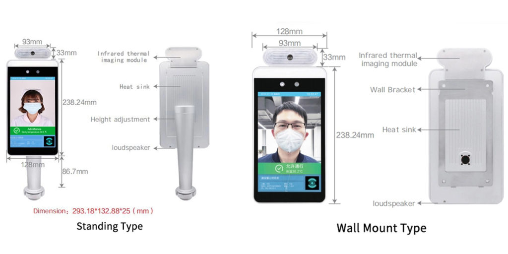 Face Recognition Temperature Measurement
