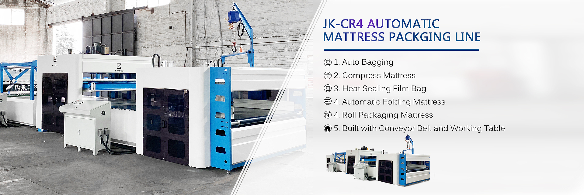 Automatic Mattress Packaging Line